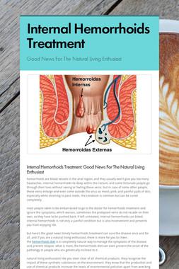 Internal Hemorrhoids Treatment