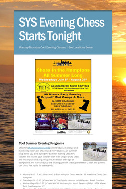 SYS Evening Chess Starts Tonight