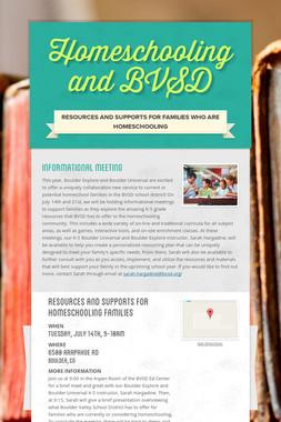 Homeschooling and BVSD