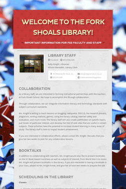 Welcome to the Fork Shoals Library!