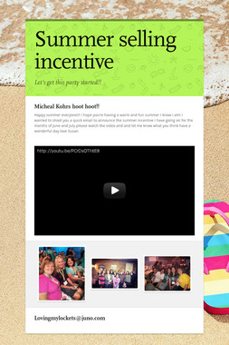 Summer selling incentive