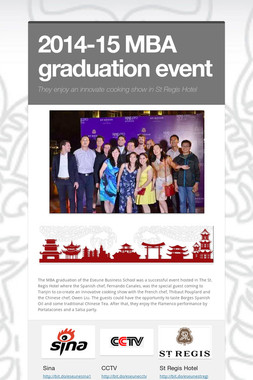 2014-15 MBA graduation event