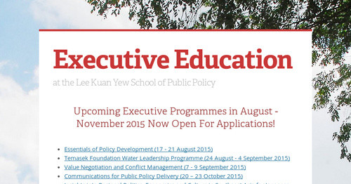 Executive Education   Smore Newsletters