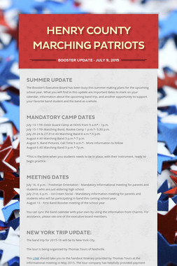 Henry County Marching Patriots