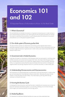 Economics 101 and 102