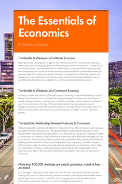 The Essentials of Economics