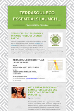 TerraSoul Eco Essentials Launch …