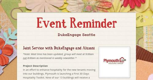 event reminder