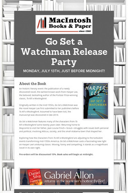 Go Set a Watchman Release Party