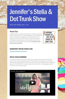 Jennifer's Stella & Dot Trunk Show
