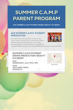 Summer C.A.M.P Parent Program