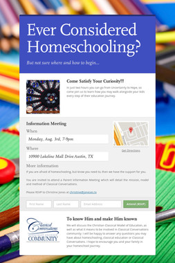 Ever Considered Homeschooling?