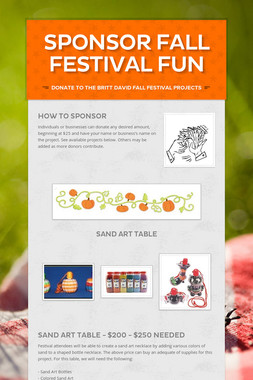 Sponsor Fall Festival Fun