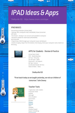 IPAD Ideas & Apps