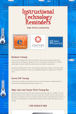 Instructional Technology Reminders
