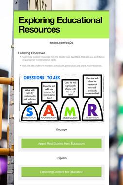 Exploring Educational Resources