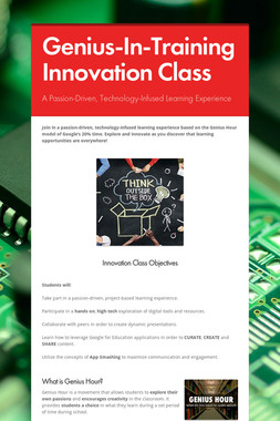 Genius-In-Training Innovation Class