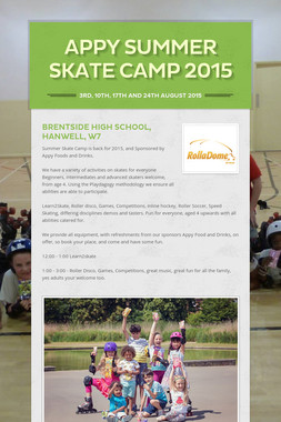 Appy Summer Skate Camp 2015