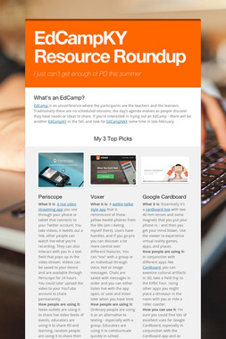 EdCampKY Resource Roundup