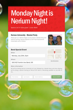 Monday Night is Nerium Night!