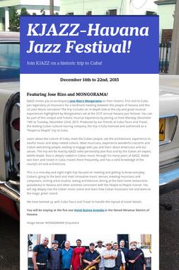KJAZZ-Havana Jazz Festival!