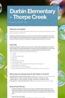 Durbin Elementary - Thorpe Creek