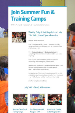 Join Summer Fun & Training Camps