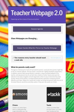 Teacher Webpage 2.0