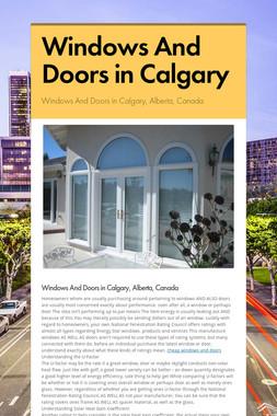 Windows And Doors in Calgary