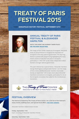 Treaty of Paris Festival 2015
