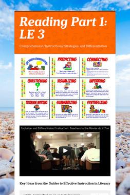 Reading Part 1: LE 3