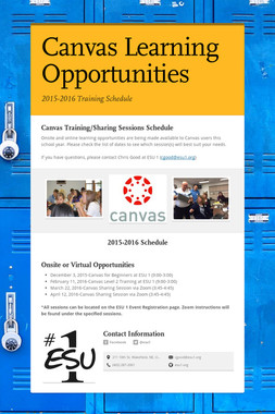 Canvas Learning Opportunities