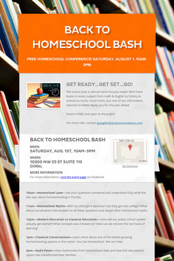 Back to Homeschool bash