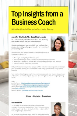 Top Insights from a Business Coach