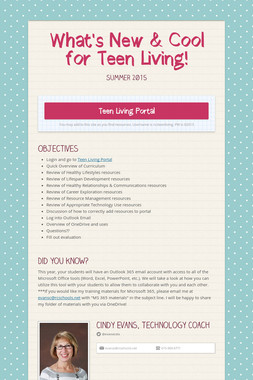 What's New & Cool for Teen Living!