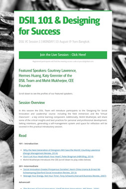 DSIL 101 & Designing for Success