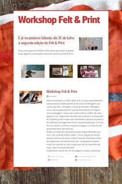 Workshop Felt & Print