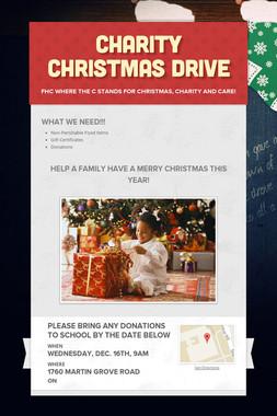 Charity Christmas Drive
