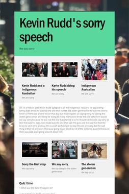 Kevin Rudd's sorry speech