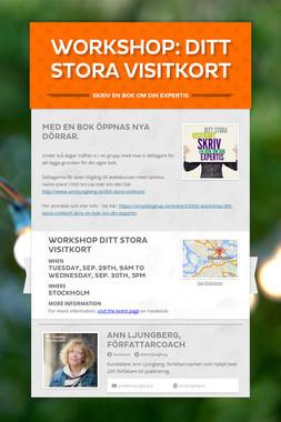 Workshop: Ditt stora visitkort