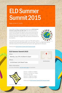 ELD Summer Summit 2015