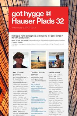 got hygge @ Hauser Plads 32
