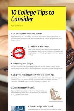 10 College Tips to Consider