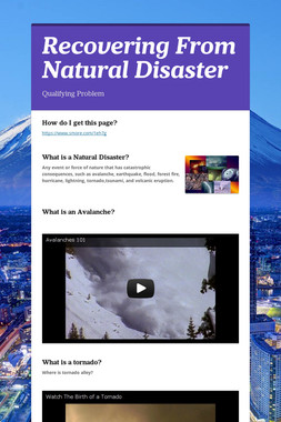 Recovering From Natural Disaster