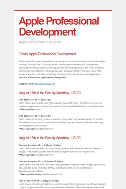Apple Professional Development