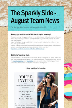 The Sparkly Side - August Team News
