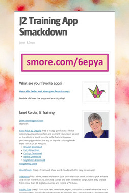 J2 Training App Smackdown
