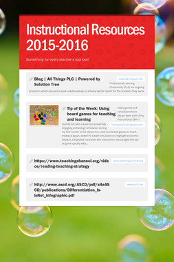Instructional Resources 2015-2016