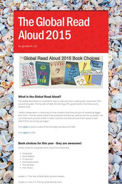The Global Read Aloud 2015
