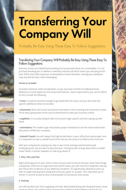 Transferring Your Company Will